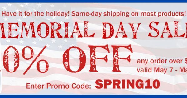 memorial day sales on clothes