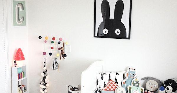 10 habitaciones infantiles en blanco y negro habitaci n - Habitaciones infantiles en blanco ...