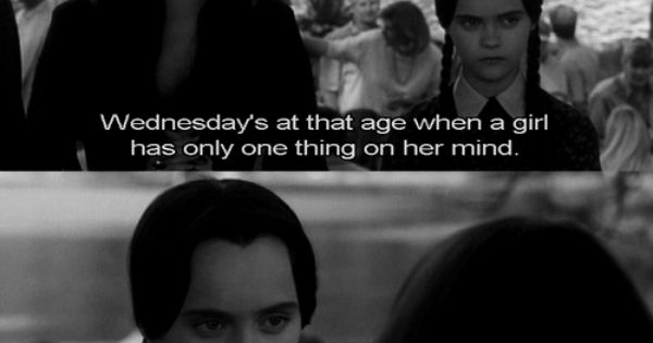 Wednesday has her own set of priorities. | 18 Times Wednesday Addams