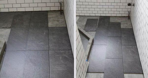 straight or staggered grey subway tiles slate bathroom and large