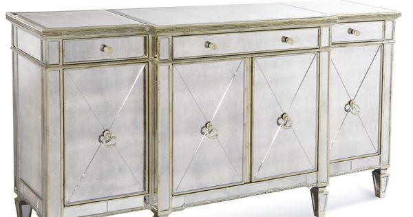 Marais Mirrored Credenza Credenza Room And Cabinet Storage