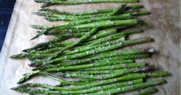The absolute best way to cook asparagus. Season with olive oil, salt,