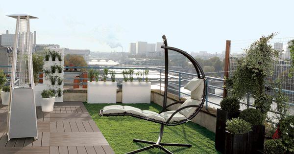 4 d coration de terrasse et jardin chic et choc terrasse design caillebotis et gazon synth tique - Terrasse jardin caillebotis ...