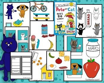 Visuals To Be Used With The Book Pete The Cat Pete S Big Lunch By