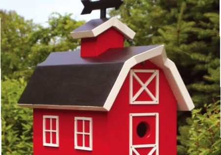 19-W2804 - Barn Birdhouse Woodworking Plan | wood projects ...