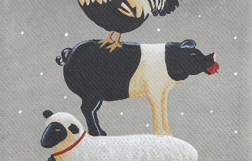 Amish Christmas Tree Print by Mary Charles