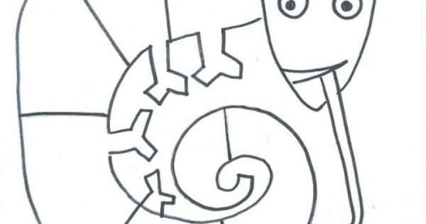 mixed up chameleon coloring page mixed up chameleon template