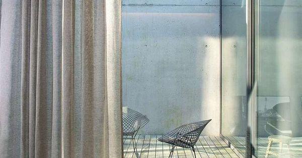 Modern Linen Fabric Thin Transparent Drab Terraced Modern