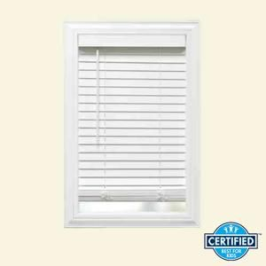 Home Decorators Collection White Cordless Faux Wood Blind With 2 In Slats 10793478184453