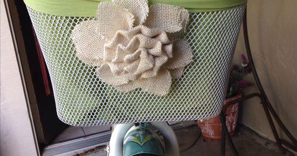 Burlap Flower Girl Basket Hobby Lobby : Diy bicycle basket bike liner i bought a bell