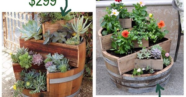 Planter ideas with barrels~
