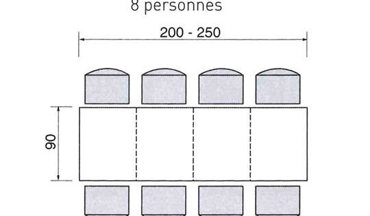 dimensions d 39 une table pour 2 4 6 ou de personnes construction room and living rooms. Black Bedroom Furniture Sets. Home Design Ideas
