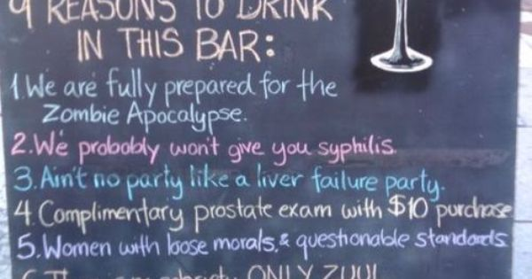 1Stack - Bar Signs That Make Compelling Arguments