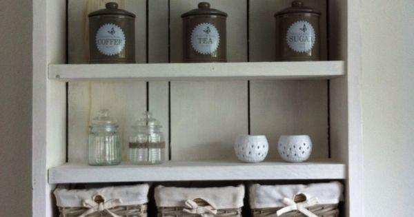 Keukenrek gemaakt van steigerhout landelijk wonen pinterest keuken hout en decoratie - Oude keuken decoratie ...