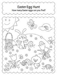Happy Easter Worksheet For Kids Preschool And Kindergarten With
