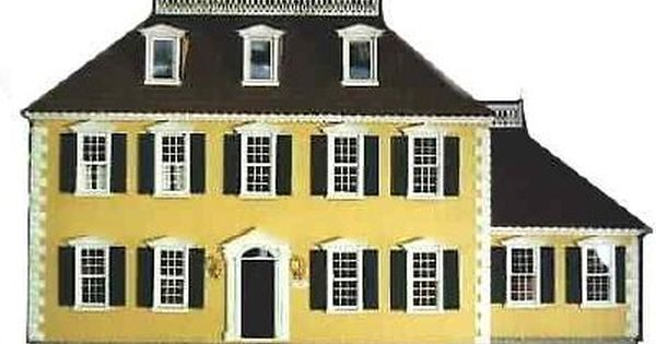 Madison Dollhouse Kit A Great Federal Style Home 36 Wide By 16 Deep By 28 Tall 3 Rooms On Each Floor The House Ha Maine House Mini House Doll House