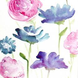 Romantic Watercolor Flower Bouquet Sticker By Junkydotcom