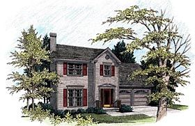 Colonial Style House Plan 92485 With 4 Bed 3 Bath 2 Car Garage Colonial House Plans Remodel Bedroom Colonial Style Homes