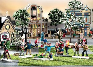 Lemax Porcelain Village Accessory 5 Tall Battery Operated Merry-Go-Round Holiday Merry-Go-Round