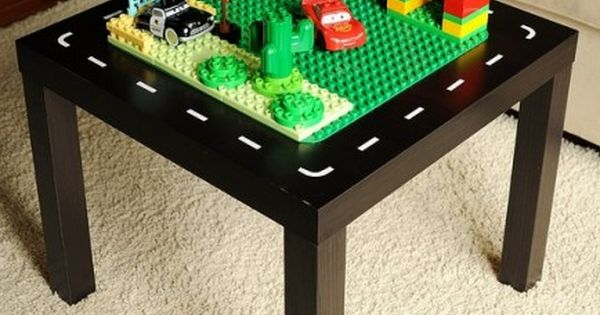 GENIUS! glue the Lego base to a cheap Ikea end table. Toddler