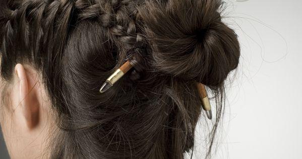 Battle axe hair sticks are fantastic but I love how that hair