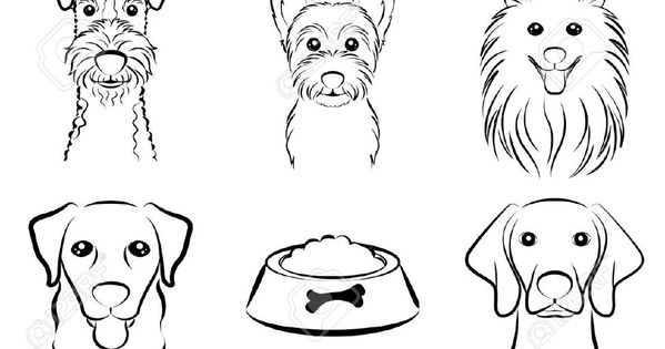 Line Drawing Of A Boxer Dog : Dog line drawing royalty free cliparts vectors and