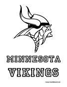 Minnesota Vikings Coloring Page Minnesota Vikings Logo Viking