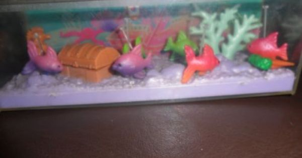 Vintage Littlest Pet Shop Trpical Fish Tank Littlest Pet Shop Pet Shop Fish Tank