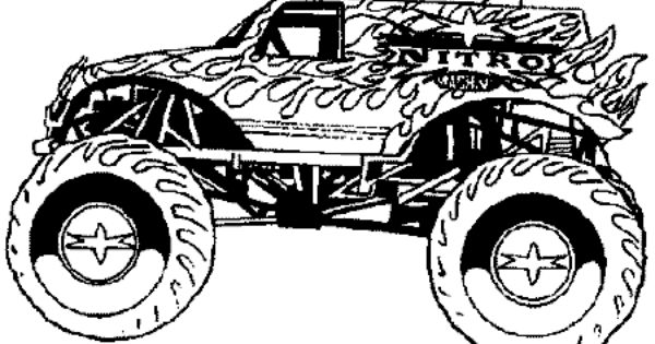 free monster truck coloring pages