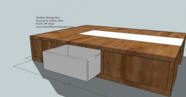Diy Drawer Plans For Queen Size Storage Bed Projects