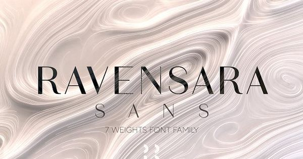 Ravensara – new elegant high contrast font family with wide weight choice.