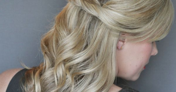 Half Up Half Down Hairstyles with Curls | Half-Up, Half-Down Hairstyles With