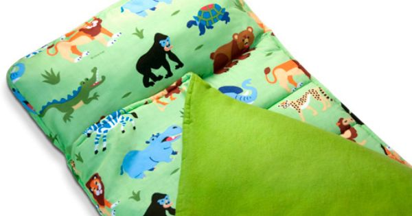 Jungle Safari Animals Kids Green Nap Mat Child Toddler