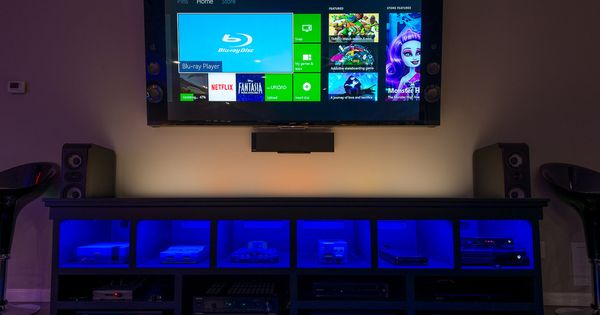 Family Game Room Tv Media Center 6 Generations Of Gaming