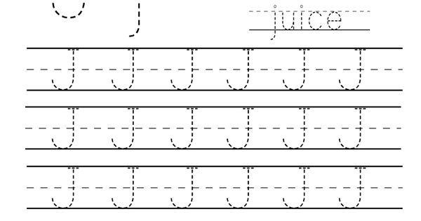 kindergarten letter j writing practice worksheet printable worksheets legacy pinterest. Black Bedroom Furniture Sets. Home Design Ideas