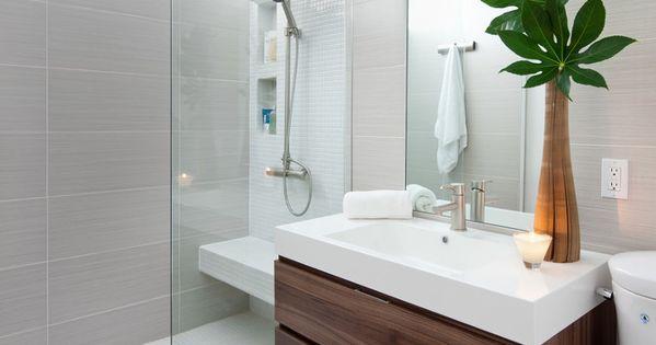 Ba o de madera con ducha de obra separa espacios gracias - Revestimientos banos sin obra ...