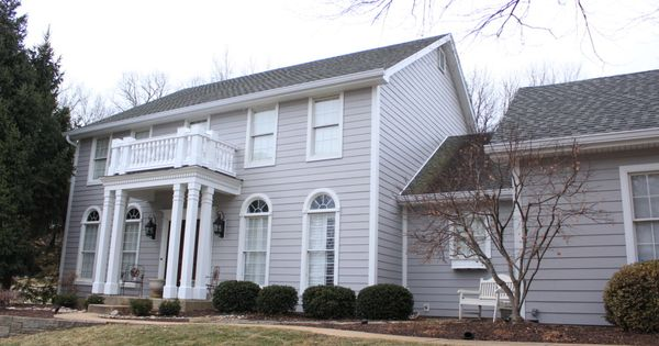 Project Name James Hardie Pearl Gray Color Plus Siding Project Location Chesterfield Mo 63005 Siding Color C Grey Siding White Window Trim White Pergola