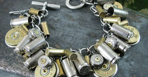 Shotgun and Bullet Casing Jewelry - Mixed Nickel & Brass Bullet and