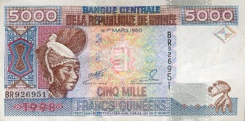 2016 Guinea Crisp Un-Circulated Banknote 100 Francs