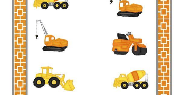 Preschool Printables: Construction Vehicles