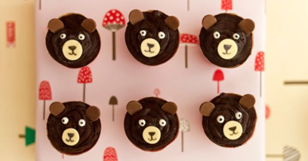 teddy bear cupcakes woodland theme