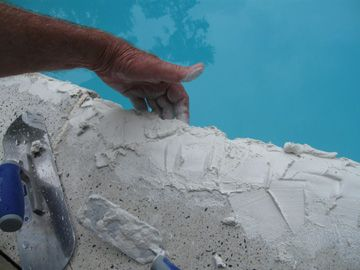 Pool Coping Repair Uses Sanded Grout Pool Coping Pool Repair Pool Resurfacing