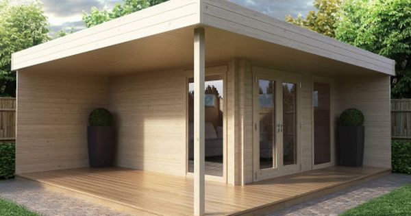 modernes gartenhaus mit terrasse hansa lounge home sweet home pinterest carport garage. Black Bedroom Furniture Sets. Home Design Ideas