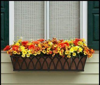 Arch Decora Window Box With Bronze Galvanized Liner 72 Inch Windowbox Com Http Www Amazon Com Dp B005gxoawa Ref Window Box Indoor Flower Pots Flower Window