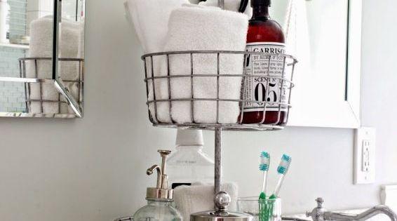 Organize With Baskets Badrum House Och Inredning