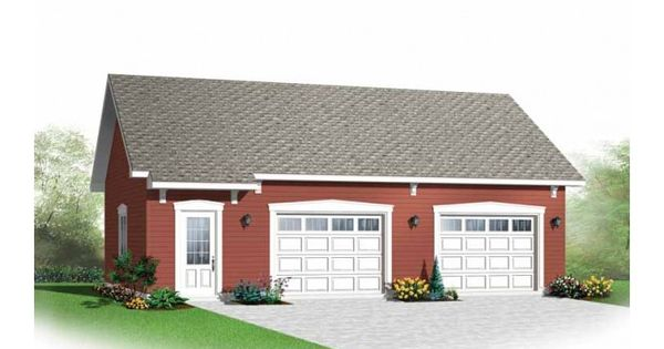 Simple Two Car Garage 92048vs: Simple And Practical Two-car Garage.