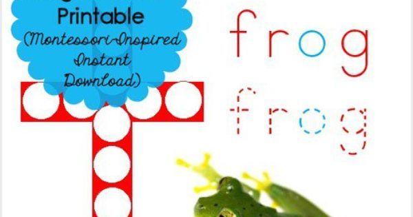Free Frog Do-a-Dot Printable (Montessori-Inspired Instant ...