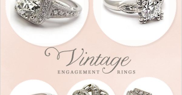 vintage wedding rings. top right!