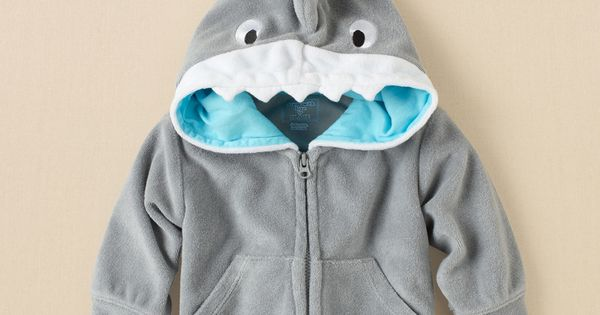 newborn - boys - swimwear - shark terry hoodie | Childrens Clothing