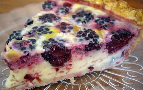 Blackberry Custard Pie... Ingredients: 1 unbaked 9 inch pie shell; 2 c.